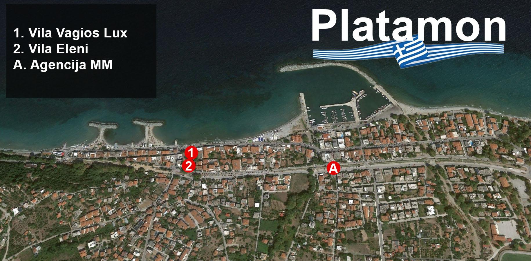 Mapa Platamona 2019 Holiday Turisticka Agencija